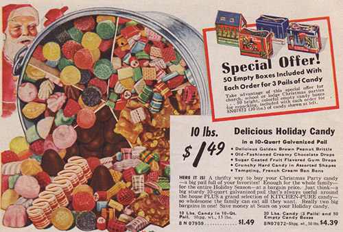 1940 Sears Catalog – Christmas Hard Candy