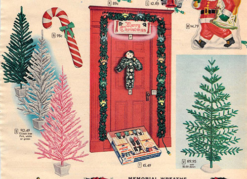 1956 Sears Catalog Artificial Christmas Tree