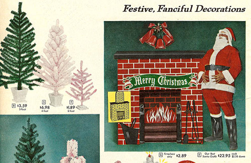 1958 Sears Catalog Artificial Christmas Tree