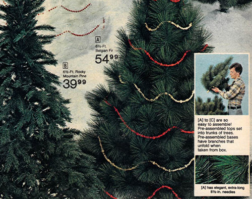 1977 JC Penney Catalog Artificial Christmas Tree