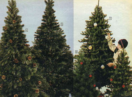 1983 Sears Catalog Artificial Christmas Trees