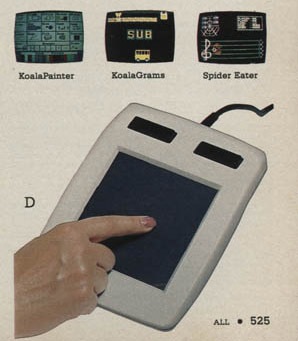 Personal Computers In the 1980s koalapad touch tablet