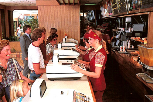 Order at Burger King in the 1980s