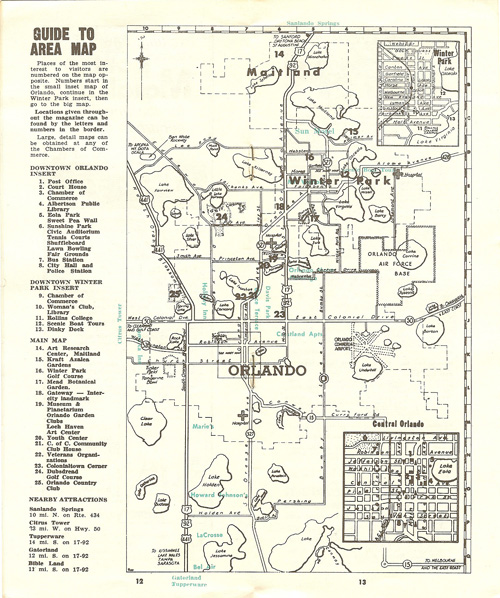 Orlando in the 1960s map