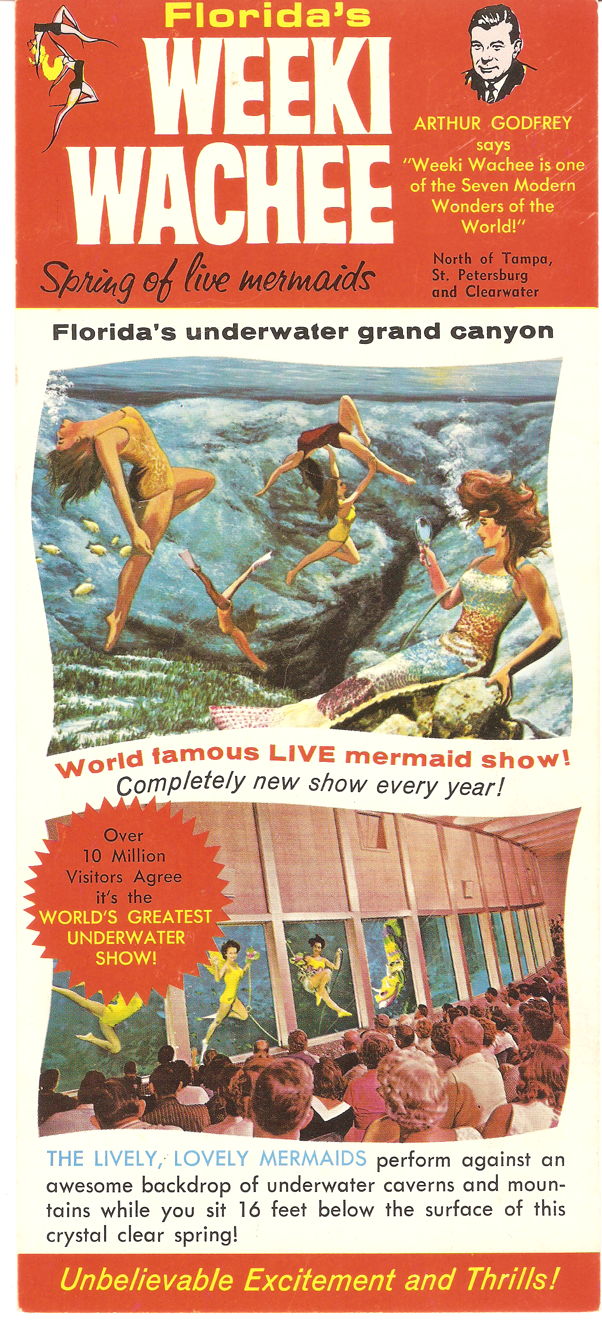 Weeki Wachee mermaid brochure