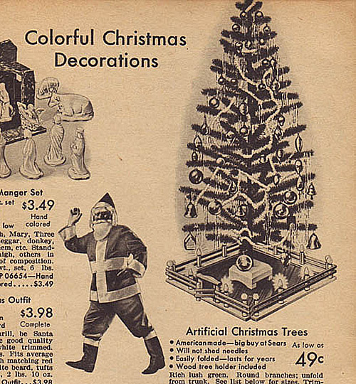 1942 Sears Catalog Artificial Christmas Tree