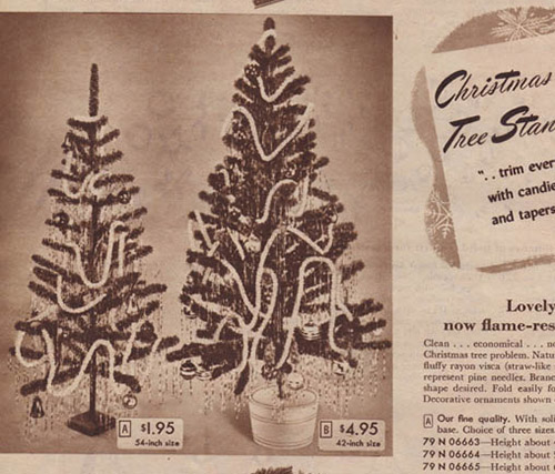 1947 Sears Catalog Artificial Christmas Trees