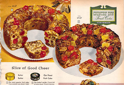 vintage catalog fruitcake