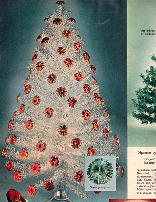 1962 sears catalog aluminum christmas tree - Sears Christmas Decorations
