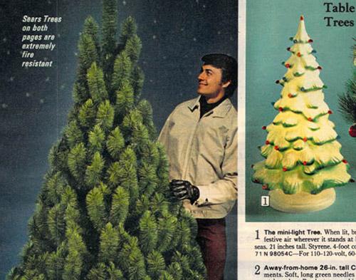 1972 Sears Catalog Artificial Christmas Tree