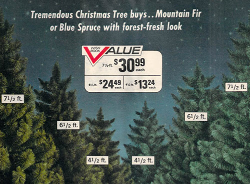 1972 Sears Catalog Artificial Christmas Trees