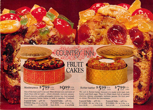 1972 Sears Catalog Fruitcake
