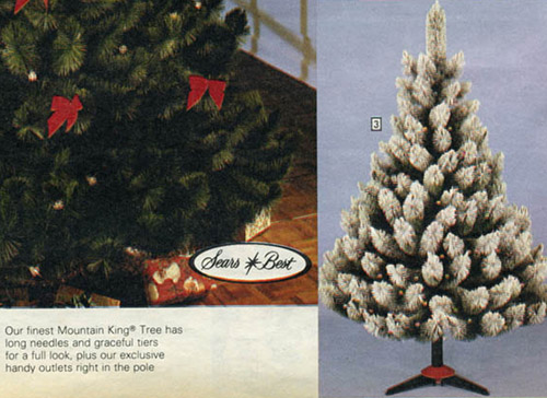 1983 sears catalog artificial christmas tree - Mountain King Christmas Trees