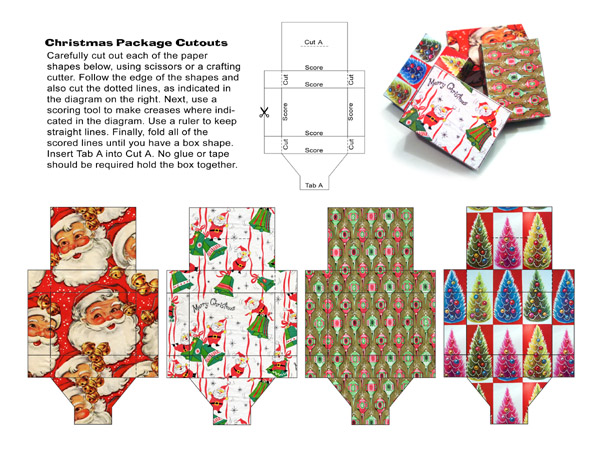 papercraft, paper cutout, christmas, wraping paper